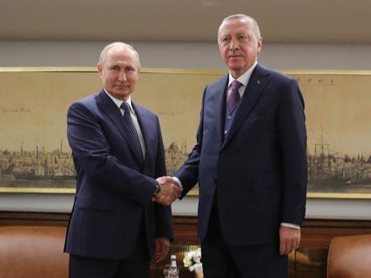 Эрдўған ва Путин учрашуви ёпиқ эшиклар ортида ўтмоқда