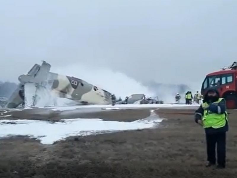 Видео: Қозоғистонда самолёт ҳалокатга учради
