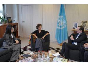 Алламжонов ва Мирзиёева ЮНЕСКО Бош директори билан учрашди