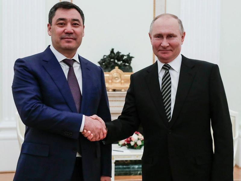 Japarov Putin bilan ko'rishish uchun jo'nab ketdi
