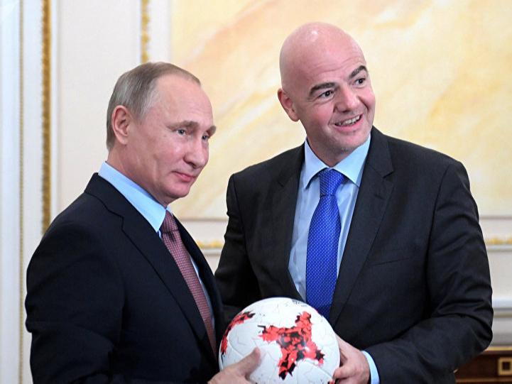 """Путин Инфантинони """"Дўстлик"""" ордени билан тақдирлади"""