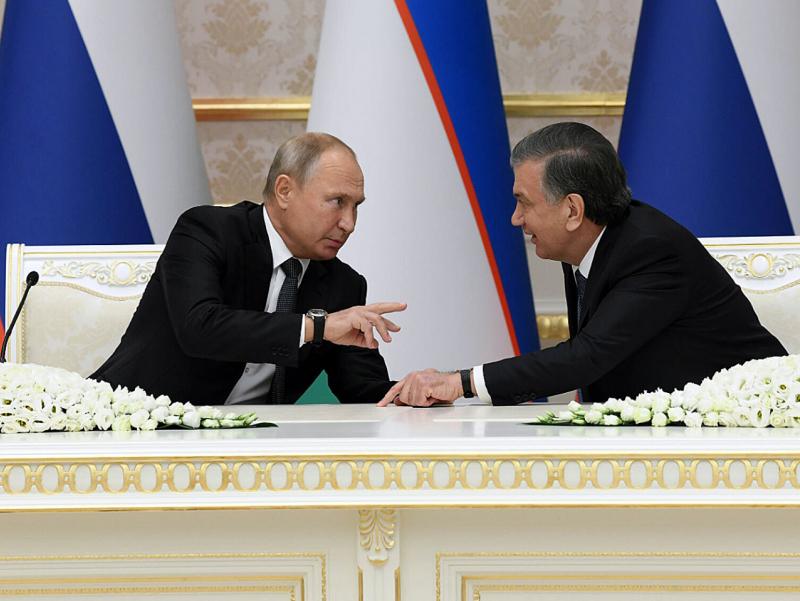Мирзиёев Путин билан тожик-қирғиз можароси ҳақида гаплашди