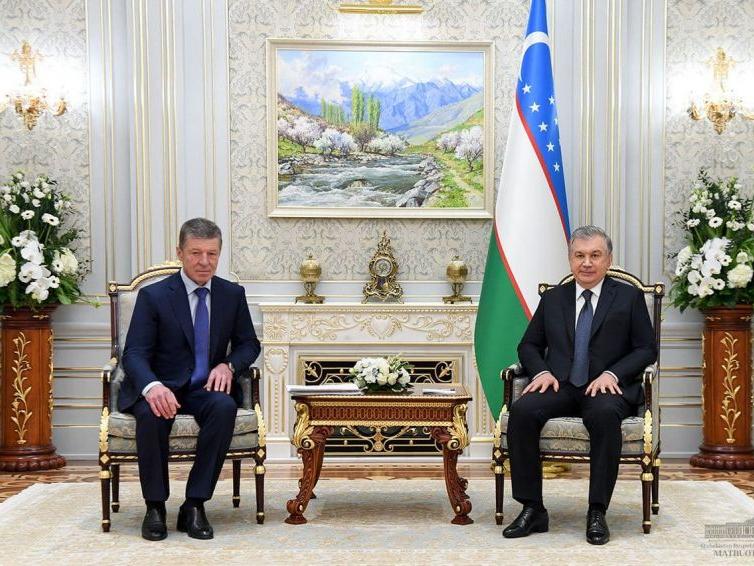 Шавкат Мирзиёев Россия делегациясини қабул қилди