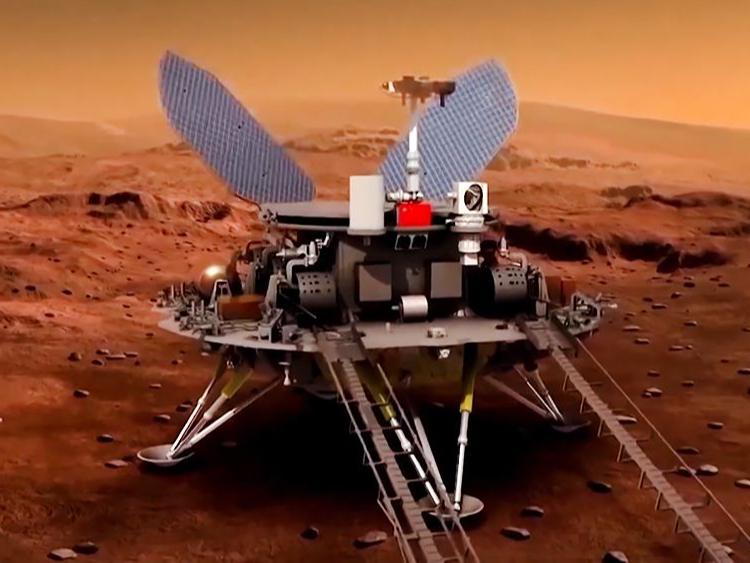 Xitoy roveri Mars yuzasida deyarli 600 metr bosib o'tdi