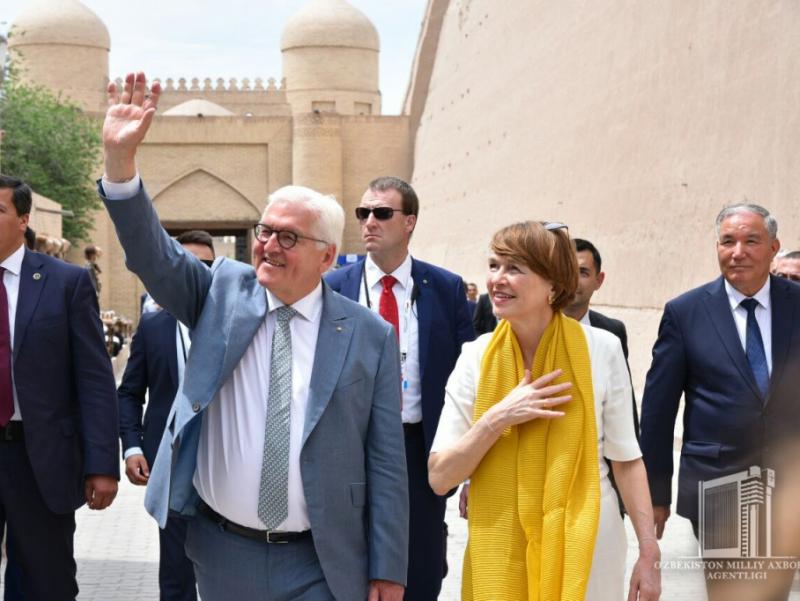 Germaniya Prezidenti Xiva shahrida bo'ldi | Qalampir.uz