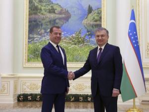 Шавкат Мирзиёев Дмитрий Медведевни қабул қилди