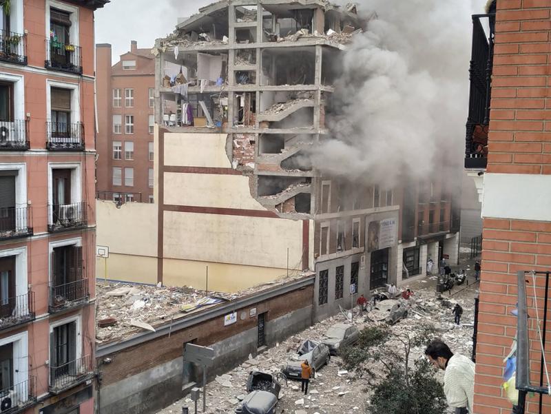 Видео: Мадридда кучли портлаш юз берди
