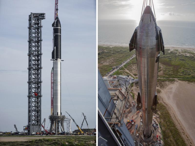 SpaceX tarixdagi eng baland raketani yig'di