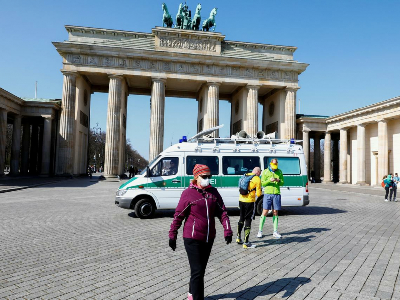Germaniyada lokdaun martgacha uzaytirildi
