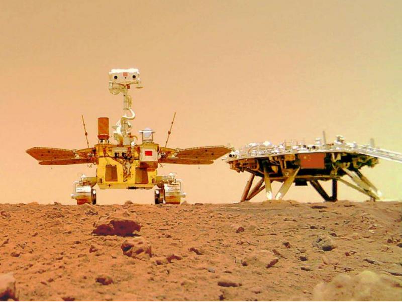 Xitoy roveri Marsdan Yerga fotosuratlar yubordi