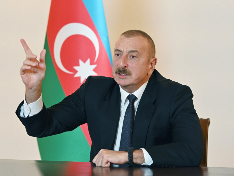 Ozarbayjon yana Armanistonga tinchlik shartnomasi imzolashni taklif qildi — Aliyev