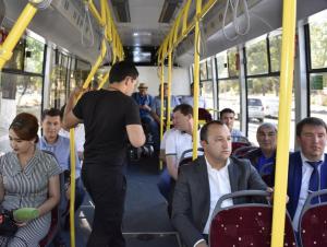 Тошкентдаги биринчи электробус йўловчиларни ташишни бошлади