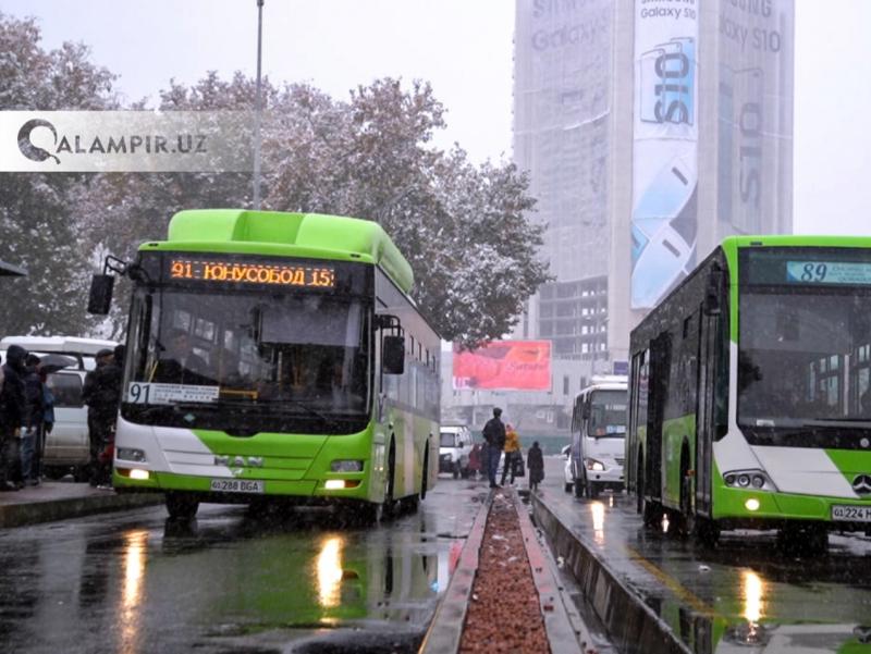 Тошкентда 3 та автобус йўналиши вақтинча ўзгаради