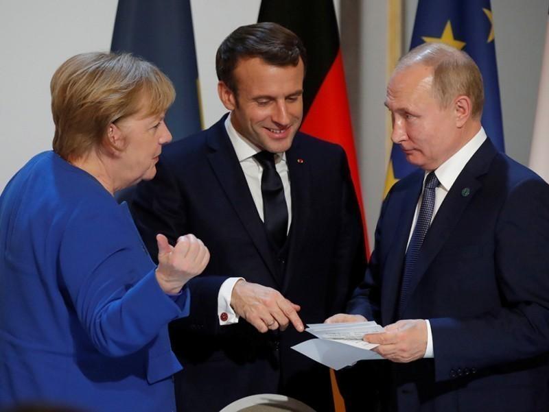 Меркель ва Макрон Путин билан гаплашиб олди. Суҳбатда нималар муҳокама қилинди?