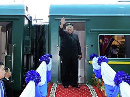Ким Чен Ин ўтирган поезд Россияга етиб келди