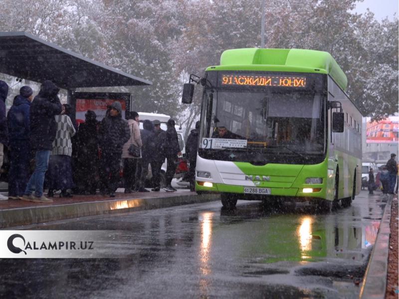 Тошкентда тезюрар автобуслар қайси йўналишларда ҳаракатланиши айтилди