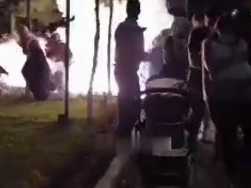 Тошкентда байрам мушакбозлиги снаряди одамлар устига тушди (видео)