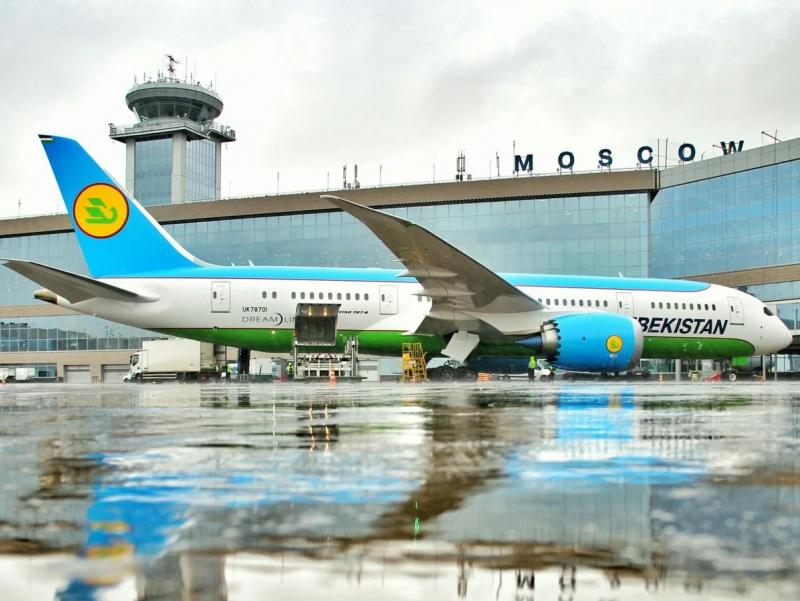 """""""Uzbekistan Airways"""" """"Domodedovo"""" aeroportiga parvozlarni tiklamoqda"""