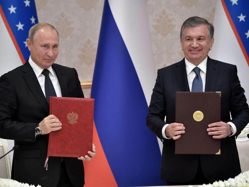 Мирзиёев ва Путин стратегик шериклик тўғрисидаги декларацияни имзолайди
