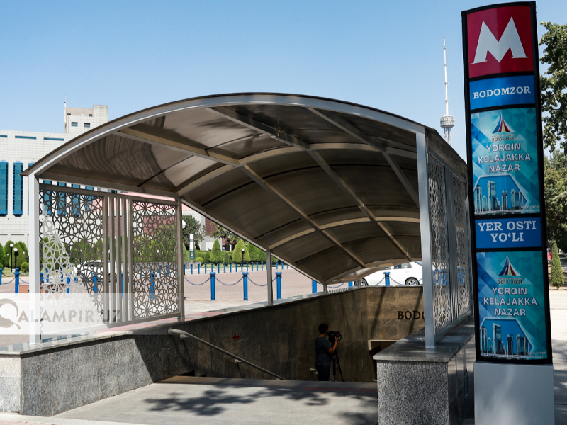 Тошкент метросидаги 8 та вестибюль очилди