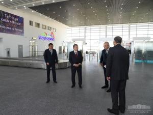 Президент Термиз халқаро аэропортининг янги терминали билан танишди