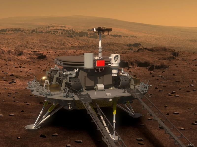 Хитой ровери Марс юзасига тушди