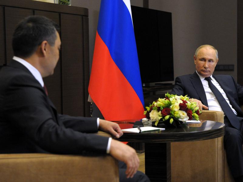 Japarov Putinga qirg'iz-tojik mojarosiga e'tibor qaratgani uchun rahmat aytdi