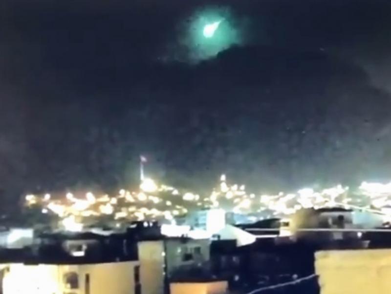 Туркия ғарбида метеорит қулади (видео)