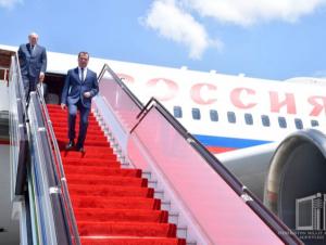 Дмитрий Медведев Хоразмга борди