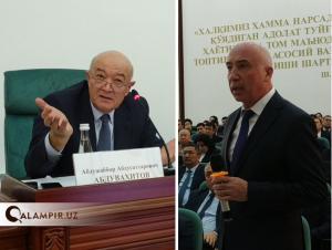 Президент маслаҳатчиси Шодмоновга: Сиз олдин берилган пулни ҳазм қилиб олинг
