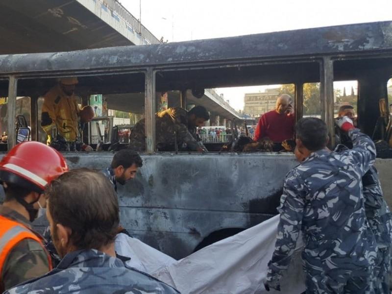Сурияда теракт: армия автобуси портлатилди